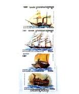 CAMBODIA 1996 # 1572-76 STEAM SHIP & SAILING SHIPS ANTIQUE MNH 3293-A2 - £5.51 GBP