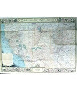 Southwestern United States MAP 1940 Decorative Pictorial Wall Map c5 Nat... - $14.99