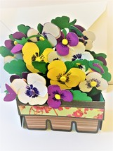 Greeting card, handmade, all occasion, opens to box shape then folds flat - $6.00