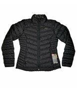 Under Armour Jacket Womens Puffer Goose Down Insulated 700 Fill Black Pe... - $199.95