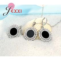 Vintage Gothic Black Sun Jewelry Set Woman Punk  Silver Pendant Fashion ... - $14.40
