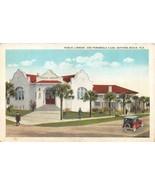 DAYTONA BEACH, Florida FL   LIBRARY & PENINSULA CLUB  Men~20's Car  Post... - $5.84