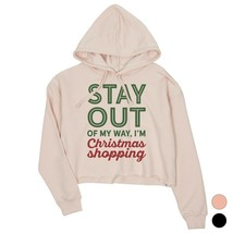 365 Printing Christmas Shopping Cool Crop Hoodie Holiday Gift Idea - $27.99