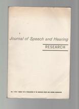 Journal of Speech & Hearing Research - March 1972 - Spectral Transformat... - $9.79