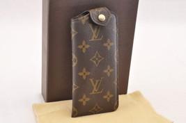 Louis Vuitton Monogram Etui A Lunettes Pm Glasses Case M66545 Lv Auth 7658 - $298.00
