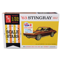 Skill 2 Model Kit 1963 Chevrolet Corvette Stingray Hardtop Scale Stars 1... - $48.37