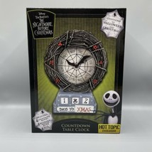 Disney The Nightmare Before Christmas Countdown Table Clock Hot Topic Exclusive - $54.44