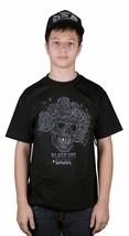 Dgk Dirty Ghetto Kids X Encre Noir Crâne Roses Art Tatouage T-Shirt