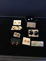 Vintage Lot Of 10 Pair Of Small Pierced Earrings (1469) - $7.50