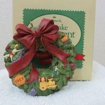 Vintage 1987 Hallmark Keepsake Ornament Wreath of Memories in Original Box image 9