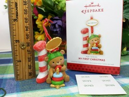 Hallmark Baby's My First Christmas Bear ornament 2013 optional dates - $9.90