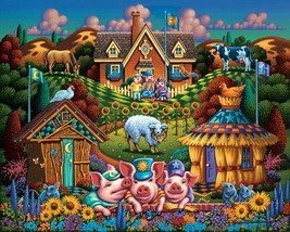 Three Little Pigs by Dowdle 500 Piece Jigsaw Puzzle  - $10.89