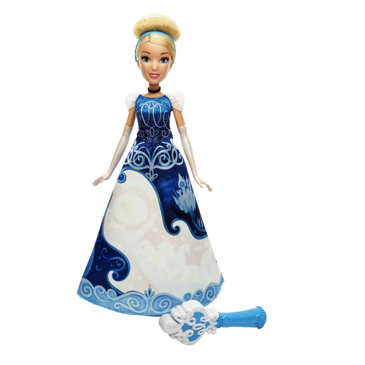 Disney Princess Cinderella Story Skirt Doll in Blue by Hasbro