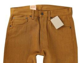 NEW LEVI'S 501 MEN'S ORIGINAL FIT STRAIGHT LEG JEANS BUTTON FLY ORANGE 501-1679 image 4