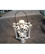 New !!  Skeleton,   Hanging Candle Holder.  Size :  7. by 5 1/2 - $18.60