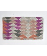 WEST ELM Wool Blanket Kilim Rug Style Triangle Pattern Pillow Sham Cover... - $34.64