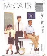 8419 UNCUT McCalls SEWING Pattern Boys French Toast School Uniform Pants... - $9.99