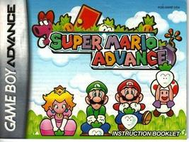 Nintendo Super Mario Advance Instruction manual NO GAME - $5.99