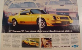 1979 Chevrolet CAMARO Z28 The Hugger yellow with accent striping Print Ad - $9.99