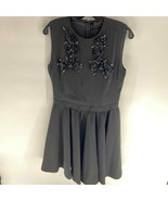 atos lombardini black fit and flare sleeveless dress Womens 8 - $50.00
