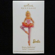 2012 Hallmark Brava Ballerina Barbie Ornament - MIB - $9.95