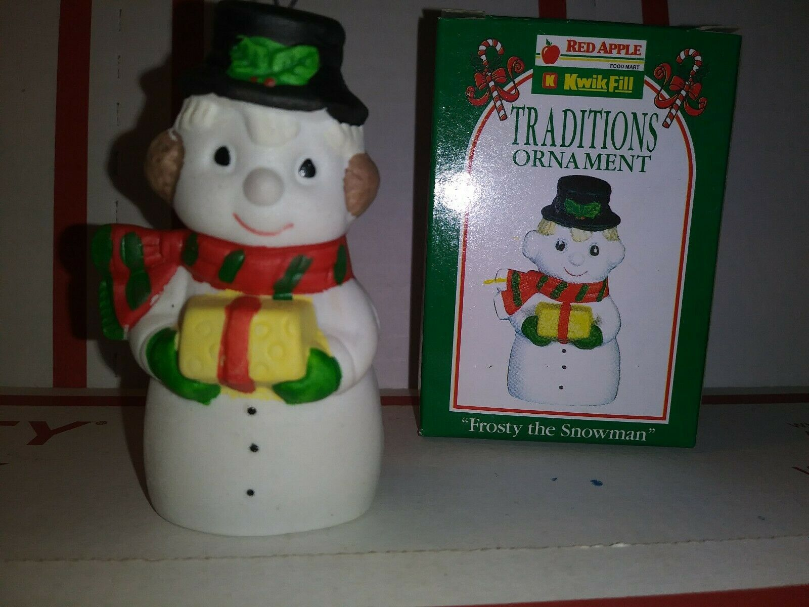 Primary image for 1996 Kwik Fill Traditions Ornament Frosty The Snowman United Refining Company VG