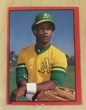 1982 Topps Sticker Variations Oakland Athletics Baseball #221 Rickey Henderson - $1.49