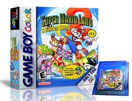Super Mario Land 2 DX & Custom Case - Now IN Color Nintendo Game Boy GBC... - $39.99