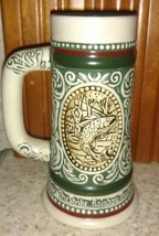 Avon The Strike Rainbow Trout / At Point English Setter 1983 Beer Stein Mug - $28.04