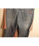 Women M L 12 14 Pants Slacks Denim Blue Jean Stretch Comfort Bootcut Waist Zip - $9.90