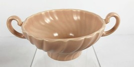Franciscan Pottery Coronado SATIN CORAL Cream Soup Bowl Cup Double Handles - $14.84