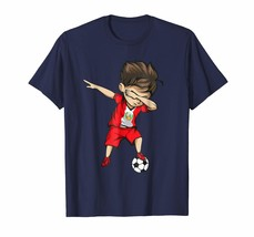 New Tee - Dabbing Soccer Boy Peru Jersey Shirt - Peruvian Football Men - $19.95+