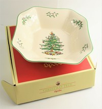 """New In Box Rare Spode 9.5"""" Christmas Tree Serving Bowl Retail $ 165 - $150.00"""