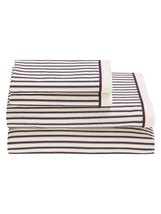 Tommy Hilfiger TICKING STRIPE Sheet Set Full 100% COTTON 200TC MULTI STR... - $64.80