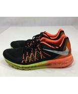 Nike Air Max 698902-004 Black/Hyper Crimson/Volt Running Shoes Men's Siz... - $60.43