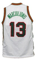 Sarunas Marciulionis #13 Lietuva Lithuania Basketball Jersey New White Any Size image 2