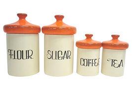 Orange kitchen canister set four thumb200