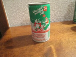 Virginia VA Turning 7up vintage pop soda metal can camping Shenandoah va... - $10.99