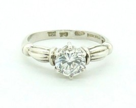 Women's Sterling Silver DQ Solitaire CZ Engagement Cocktail Promise Ring... - $34.65