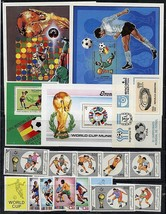 FOOTBALL / SOCCER CUP COLLECTION of 2 SETS + 5 S/S MNH A12 - $12.74