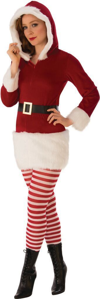 Rubies Sexy Miss Claus Elf Adult Womens Christmas Xmas Holiday Costume 821091