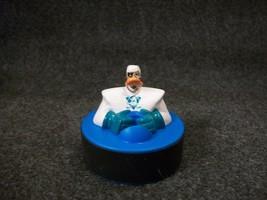 1997 McDonald's Mighty Ducks Duke L'orange Duck Blue Hockey Puck Rolller... - $2.69