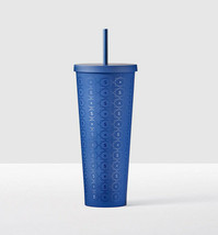Starbucks Blue Pattern Acrylic Plastic Cold Cup New Summer 2017 Venti 24... - $65.99