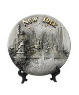 New York Souvenir 3D Poly Resin Plate 8 Inches Diameter- New York City S... - $17.99