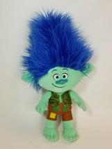 "Dreamworks 17"" Trolls Green Branch Blue Hair Plush 2016 - $16.78"