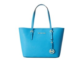 Michael Kors Jet Set Small Saffiano Travel Tote (Summer Blue) - $293.04
