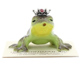 Hagen-Renaker Miniature Frog Prince Kissing Birthstone 07 July Ruby