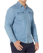 Levi's Men's Big & Tall Barstow Western Pearl Snap Casual Denim Dress Shirt image 4