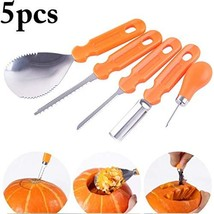 Pumpkin Carving Kit, 5 Pcs Stainless Steel Pumpkin Carving Kit Tools Set... - $12.17