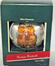 1989 Hallmark Keepsake Norman Rockwell Glass Christmas Ornament in box A... - $15.84